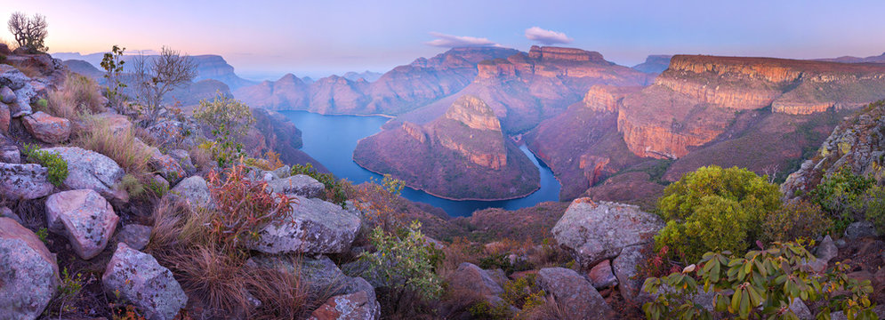 Aerial of Blyde River Canyon Three Rondavels - South Africa
