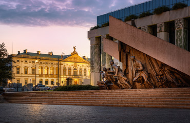 Pałac Krasińskich and Warsaw Uprising Monument