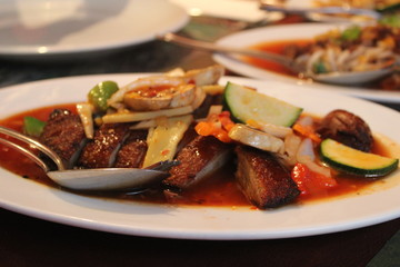 duck with vegetables and sauce