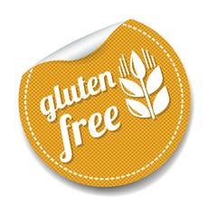 Gluten Free Sticker Isolated White Background