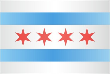 Grunge flag of Chicago - illustration, 