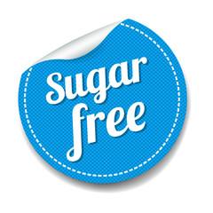 Sugar Free Sticker Isolated White Background