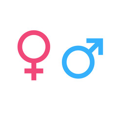 Illustration of male and female gender symbol