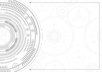 Technical drawing .New technologies .Geometric vector , background