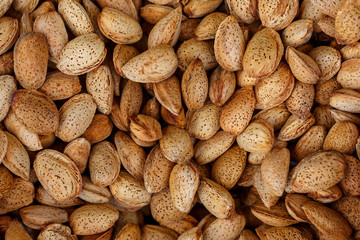 almond nuts may be use like background