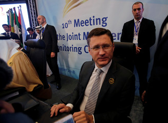 Russian Energy Minister Alexander Novak attends the OPEC Ministerial Monitoring Committee in Algiers