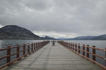 Pier in the Okanagan lake