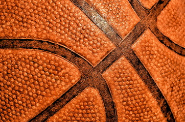 Orange basketball close-up texture