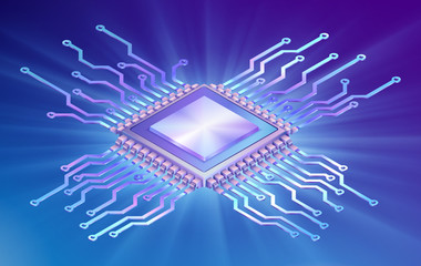 Isometric central processor