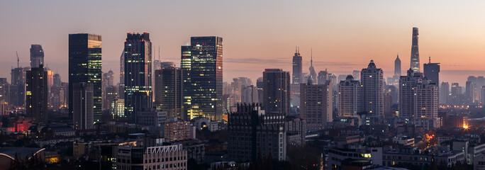 Foto auf Leinwand Shanghai Shanghai Skyline - Panorama