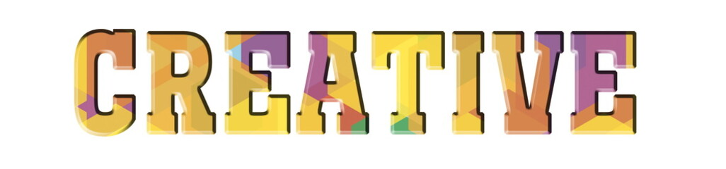 CREATIVE Multicolor banner logo
