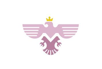 Creative Orange Phoenix Logo Symbol Vector Illustration