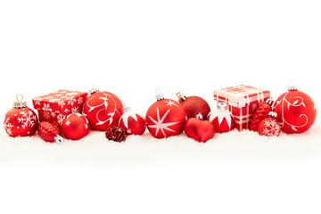 Rotes Weihnachten Header Banner