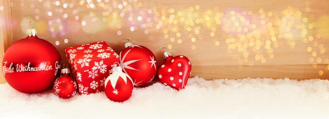 Frohe Weihnachten Hintergrund Panorama Header