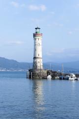 Lindau, Bodensee, Hafeneinfahrt, Leuchtturm
