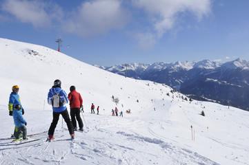 Austrian alps: The winter sport region in Lienz City in East Tirol