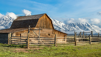 old barn in tetons