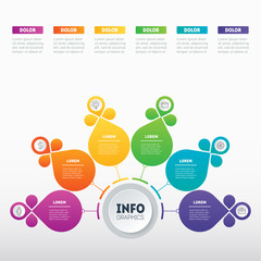 Part of the report with icons set. Vector infographic of technology or education process. Business concept with 6 options. Web Template of a pyramidal chart, diagram or presentation.