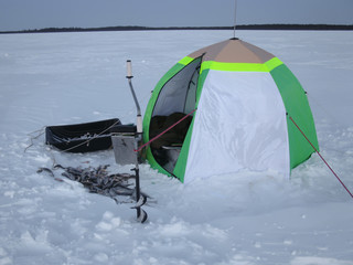 winter equipment for winter fishing