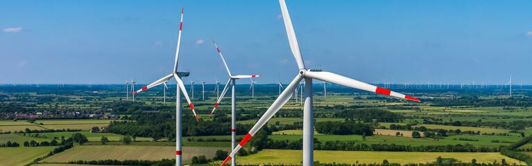 Windpark Panorama Drohnenfoto ökostrom