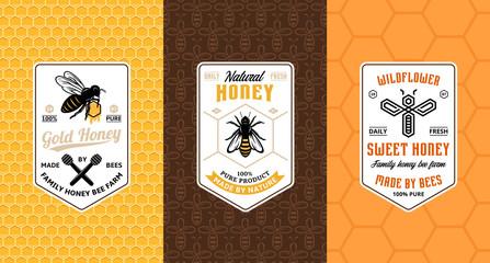 Honey labels, logo and packaging design