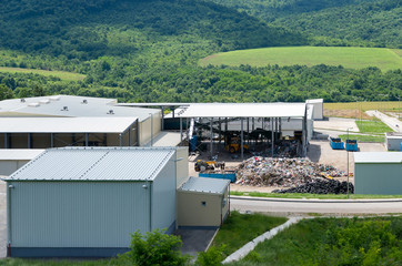 Waste treatment plant depot. Urban landfill built under the program Environment with a grant from the European Union.