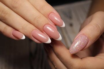 Manicured nails Nail Polish art design. Best