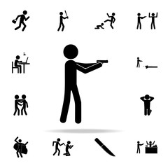 man with a gun icon. Crime icons universal set for web and mobile