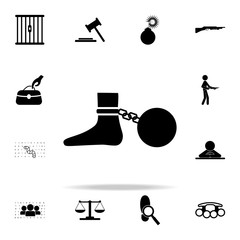 shackles icon. Crime icons universal set for web and mobile
