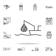 fishing icon. fish production icons universal set for web and mobile