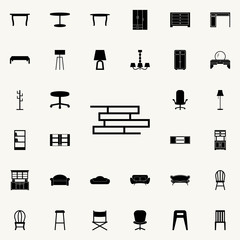 bookshelf icon. Furniture icons universal set for web and mobile