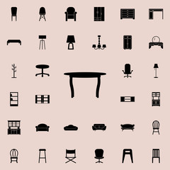 table icon. Furniture icons universal set for web and mobile