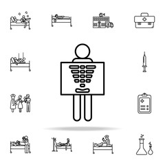 x-ray icon. Hospital icons universal set for web and mobile