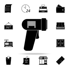 bar code reader icon. market icons universal set for web and mobile