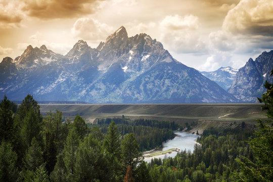 Snake River Overlook, Grand Tetons National Park (Wyoming, USA) Grand Teton National Park
