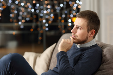 Man wondering at home in the night