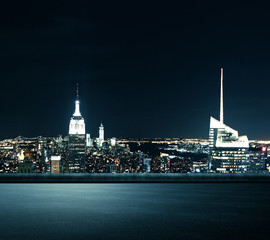 Illuminated New York city background