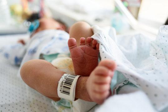 Pies de recién nacido con código de identificación 02