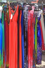 Dresses on an Outdoor Rack