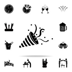 flapper icon. Party icons universal set for web and mobile