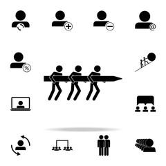 joint drag and drop icon. Teamwork icons universal set for web and mobile