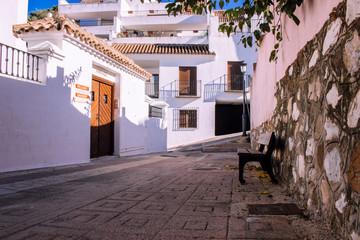 Street. A small traditional Spanish street. Benahavis village, Costa del Sol, Andalusia, Spain....