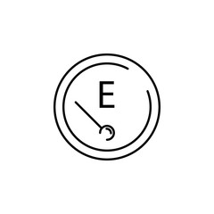 empty tank icon. Element of transportation icon for mobile concept and web apps. Thin line empty tank icon can be used for web and mobile