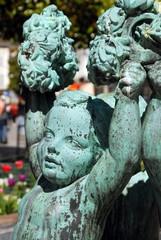 Ville de Dreux, fontaine en centre ville, département d'Eure et Loir, Normandie, France