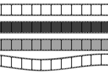 Set of film strip frame, vector template illustration