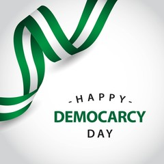 Happy Democracy Day Vector Template Design Illustration