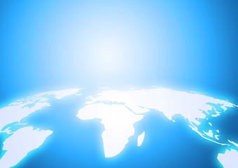 光り輝く地球