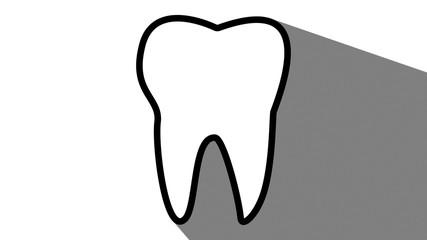 Tooth dentistry icon long shadow