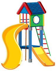 Playground cubby house white background
