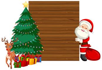 Wooden christmas frame concept